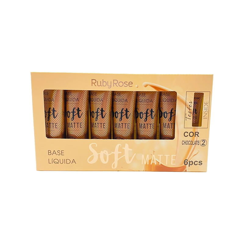 Base Líquida Soft Matte Ruby Rose HB-8050-B2 Bege 2 (box